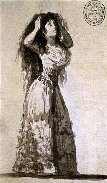 The Duchess of Alba Arranging her Hair, 1796 - Francisco Goya