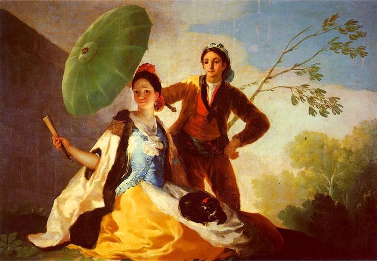 The Parasol, 1777 - Francisco Goya - WikiArt.org
