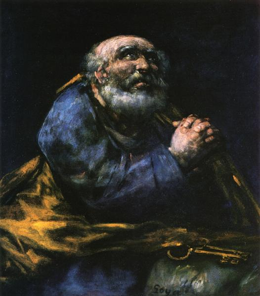The Repentant Saint Peter, c.1820 - c.1824 - Francisco Goya