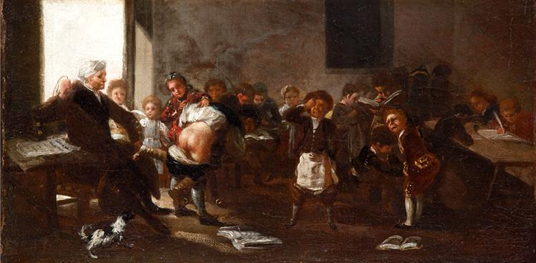 The school scene, 1785 - Francisco Goya