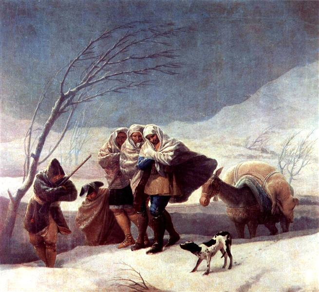 The Snowstorm (Winter), 1786 - 1787 - Francisco Goya