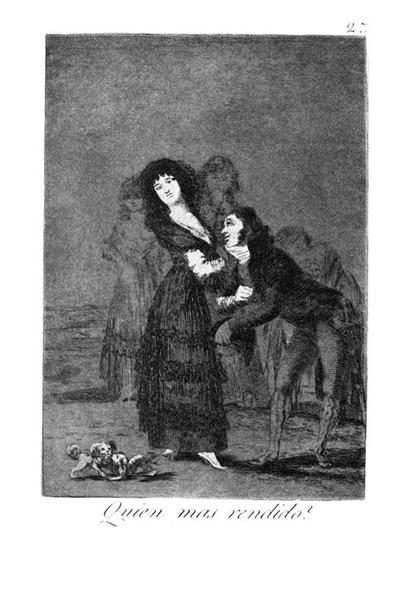 Who is more overcome?, 1799 - Francisco Goya