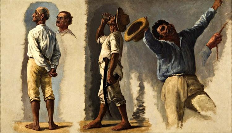Esboço para o velório - Boceto para el velorio - Sketch for the wake, 1893 - Франциско Олльер