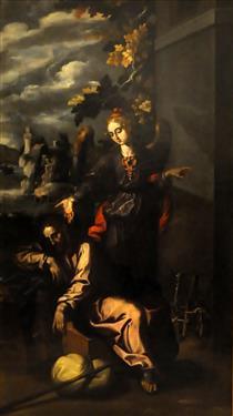De droom van Sint-Jozef - Francisco Pacheco