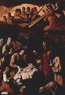 Adoração dos Pastores - Francisco de Zurbarán