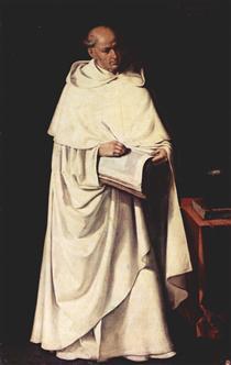 Retrato do Fra Zumel Francisco - Francisco de Zurbarán