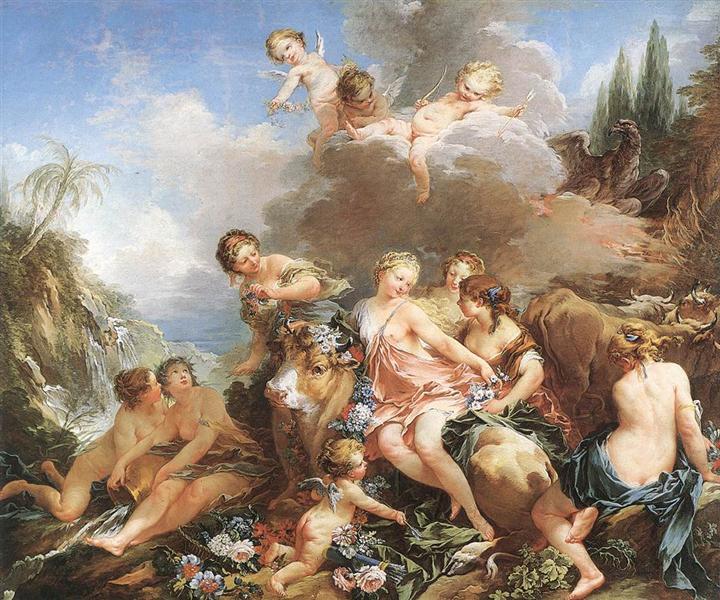 The Rape of Europa, c.1732 - 1734 - Francois Boucher