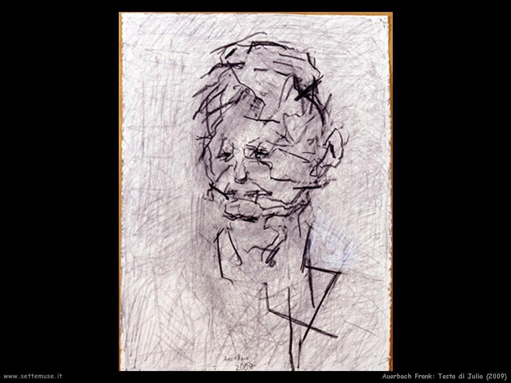 Frank Auerbach Portrait Drawings Portrait of Julia Frank
