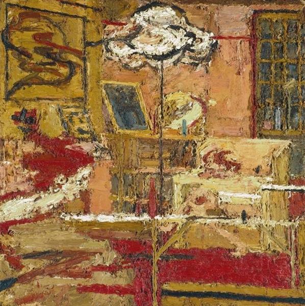 Гостиная, 1964 - Франк Ауэрбах