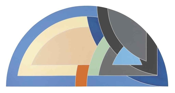 Protractor Variation IX, 1968 - Frank Stella