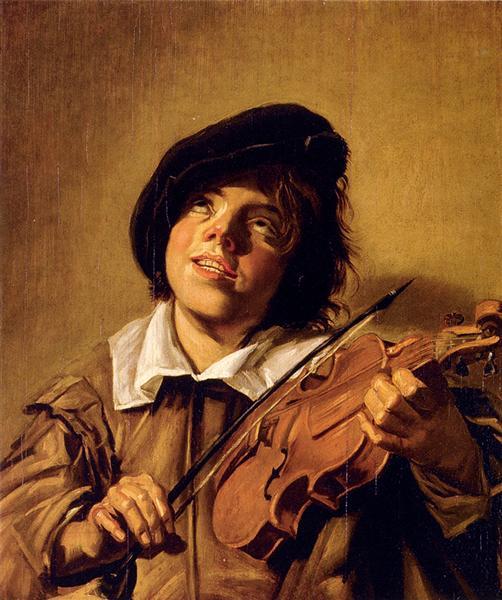 Boy Playing A Violin - Frans Hals