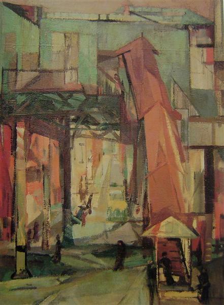Chatham Square, 1948 - Франц Клайн