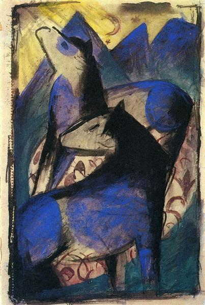 Two Blue Horses, 1913 - Franz Marc