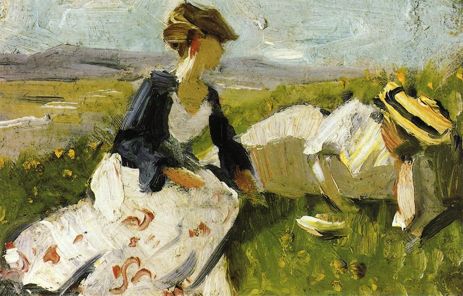 Women On A Hillside Painting Famous
