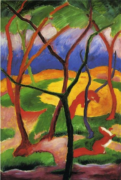Weasels Playing, 1911 - Franz Marc