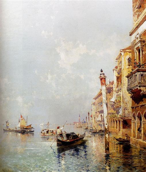 Canal de la Giudecca - Franz Unterberger Richard