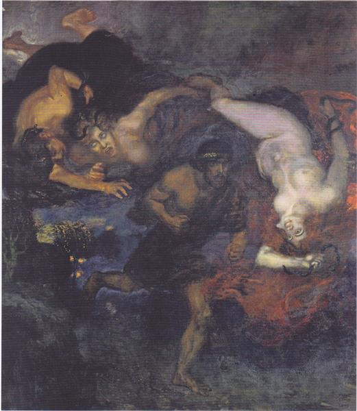 Orestes and the Erinyes, 1905 - Franz Stuck