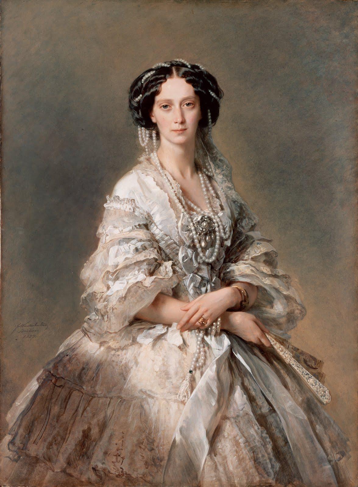 Portrait of empress maria alexandrovna 1857 franz xaver for Albrecht hesse