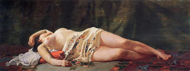 Reclining Nude - Frederic Bazille