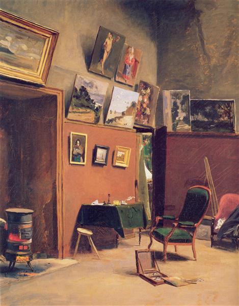 Studio in the rue de Furstenberg, 1865 - Frederic Bazille