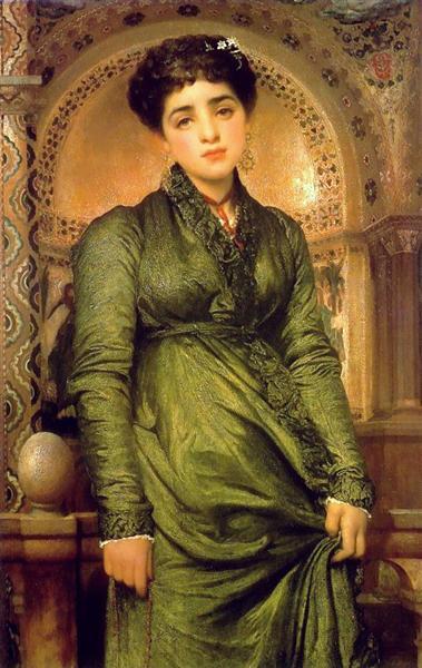 Girl in Green - Frederic Leighton