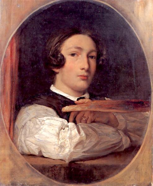 Self portrait as a boy - Frederic Leighton