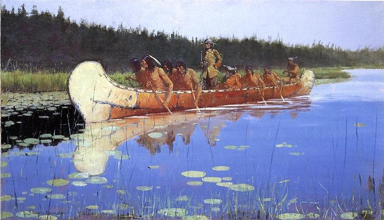 Radisson and Groseilliers - Frederic Remington