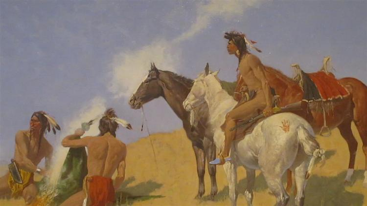 The Smoke Signal - Frederic Remington