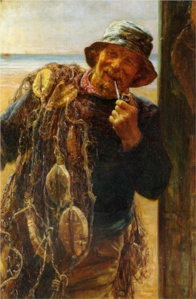 A Jovial Fisherman, 1896 - Frederick Morgan