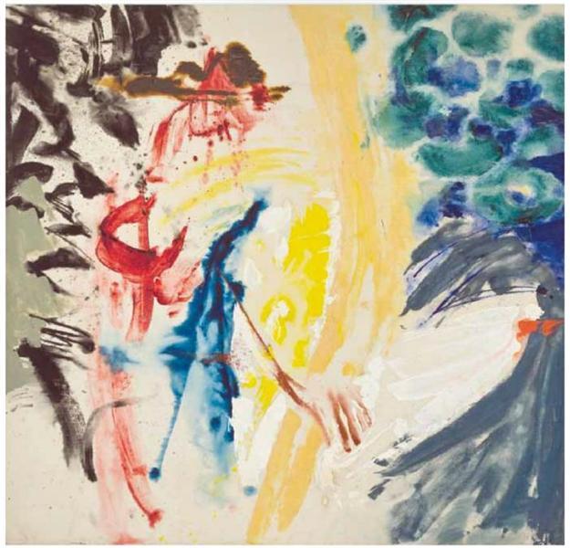 Untitled #77, 1954 - Friedel Dzubas