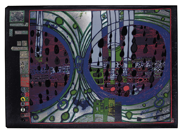 676A  A Rainy Day on the Regentag, 1971 - Friedensreich Hundertwasser