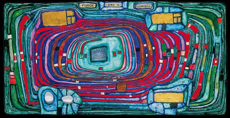 816 Switch Board, 1980 - Friedensreich Hundertwasser