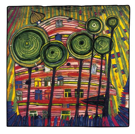 745 Blobs Grow in Beloved Gardens, 1975 - Friedensreich Hundertwasser