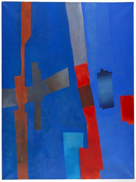 Rot von Unten, 1968 - Fritz Winter