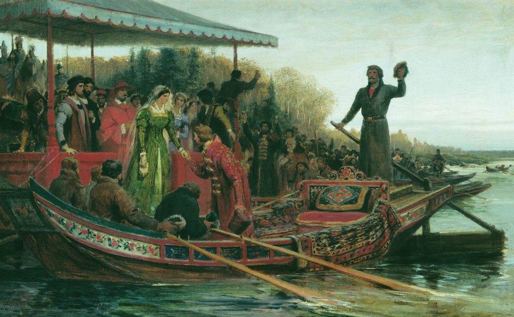 Meeting of princess, 1883
