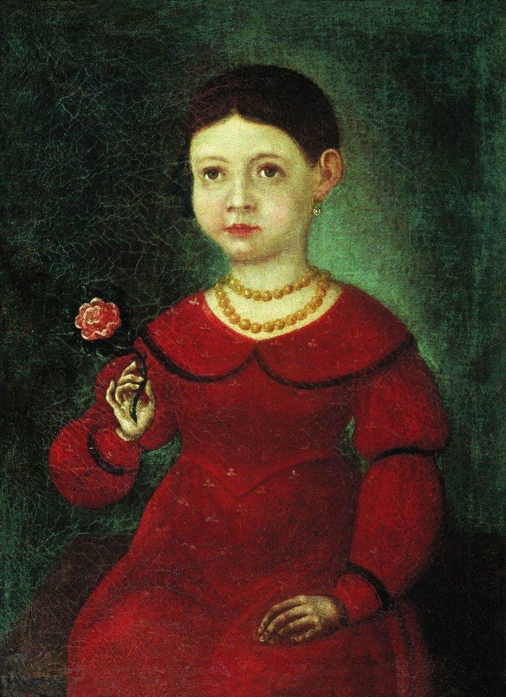 Portrait of a Girl Evdokia Kuznetsova, 1842