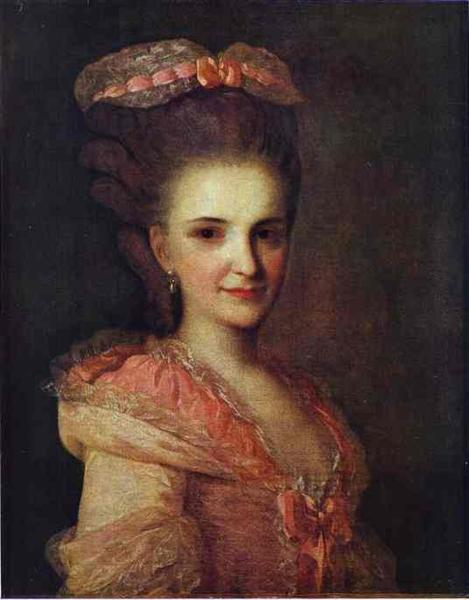 Portrait of an Unknown Lady in a Pink Dress, c.1770 - Fyodor Rokotov