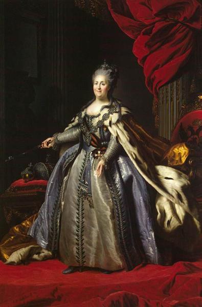 Portrait of Catherine II of Russia, c.1780 - Fyodor Rokotov