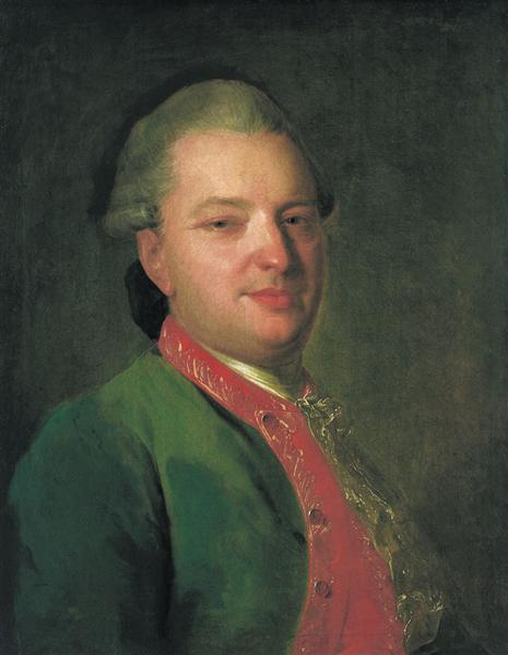 Portrait of the Poet Vasily Maykov, c.1760 - Fyodor Rokotov