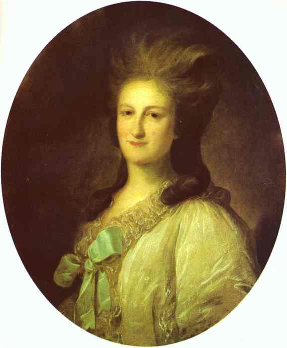 Portrait of Varvara Ermolayevna-Novosiltseva, 1780