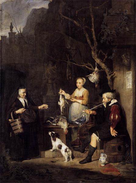 The Poultry Woman, 1662 - Gabriel Metsu