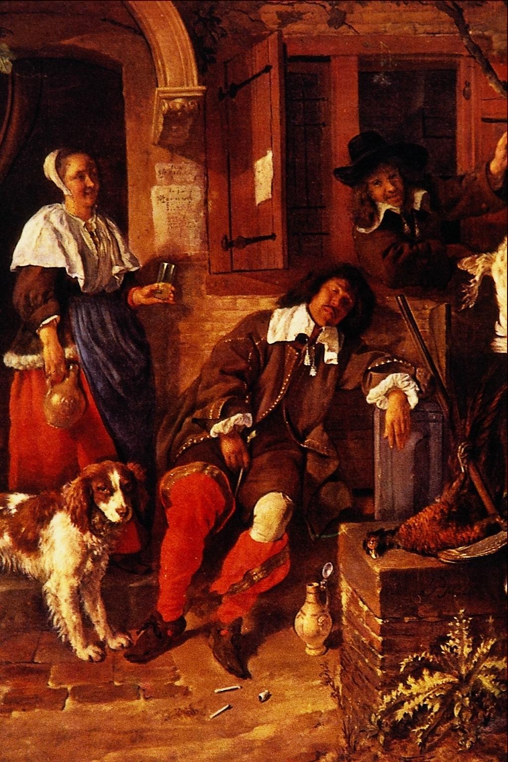 Gabriël Metsu The-sleeping-sportsman-1659