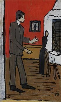 Paar in Interieur - Gabriele Munter