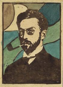 Portrait Of Wassily Kandinsky - Gabriele Munter