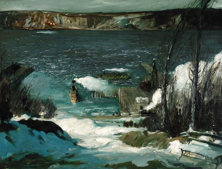 North River, 1908 - George Bellows