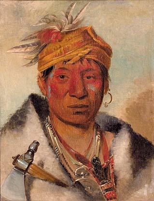 Ah-yaw-ne-tak-oár-ron, a Warrior, 1831 - George Catlin