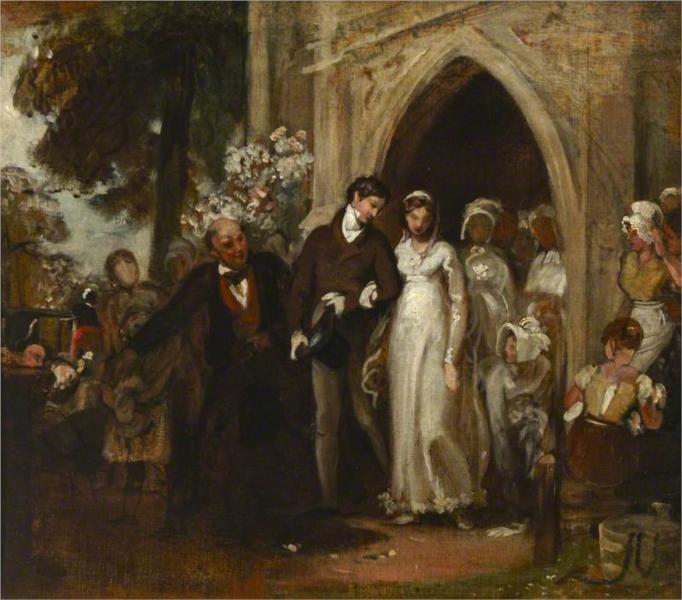 The Village Wedding, Watley Abbey, 1868 - George Hemming Mason