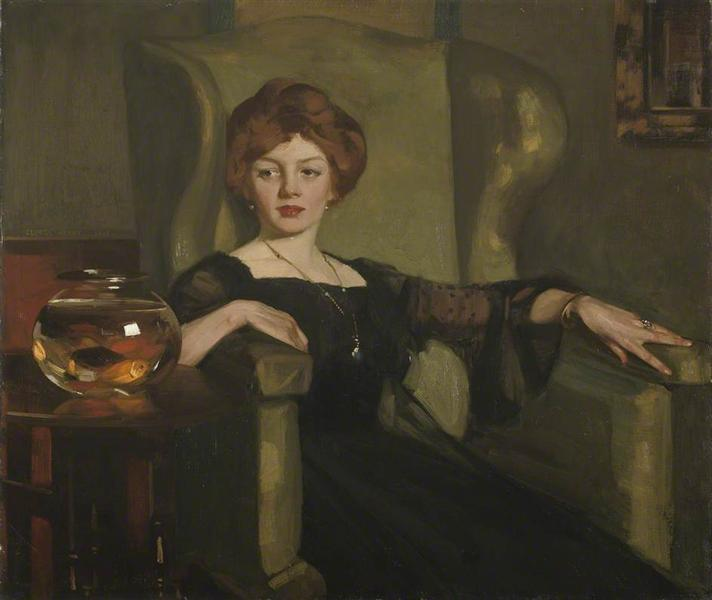 Lady with Goldfish - George Henry