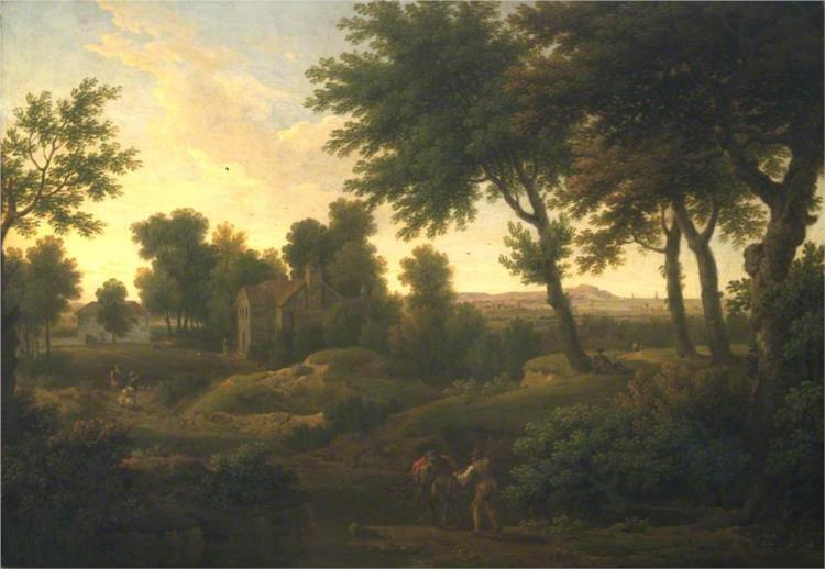 Landscape with Farm Buildings, 1760 - George Lambert