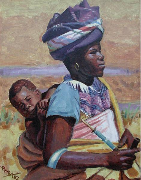 Xhosa mother and child, 1983 - George Pemba